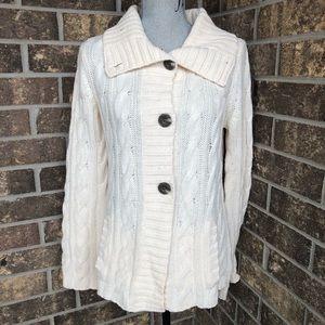 Eddie Bauer Sweater 60% Merino Wool Size M